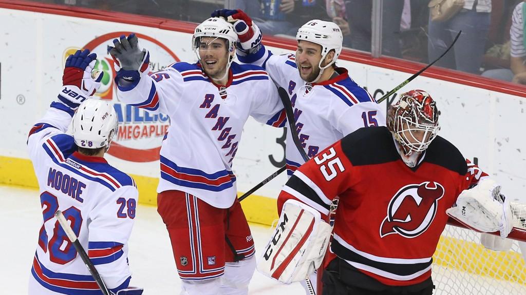 TROFE: New York Rangers sikret seg Presidents trophy natt til onsdag.