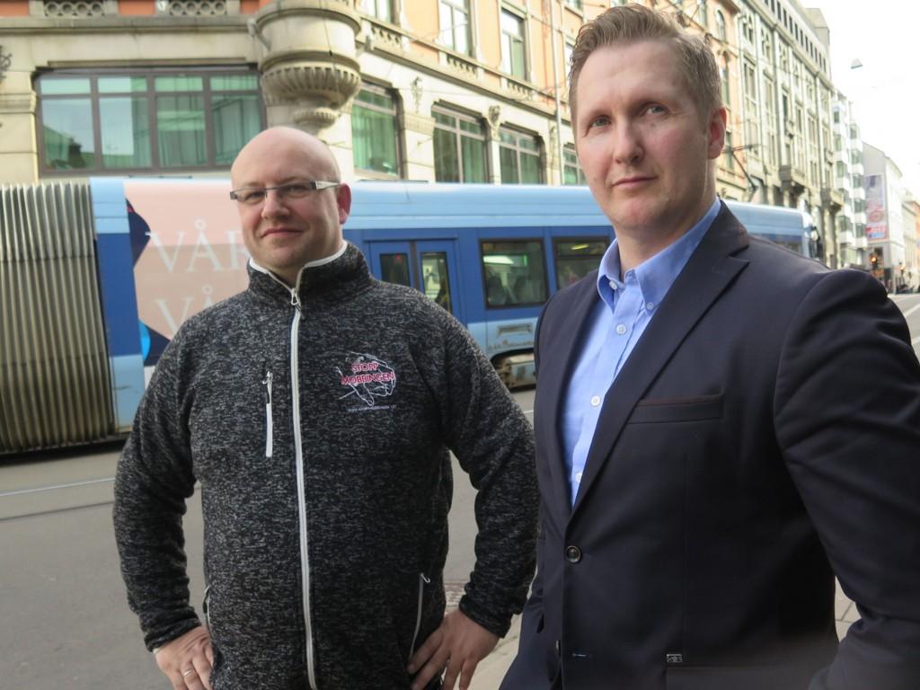 Tore Sveum i foreningen Stopp Mobbingen og Terje Bratland.