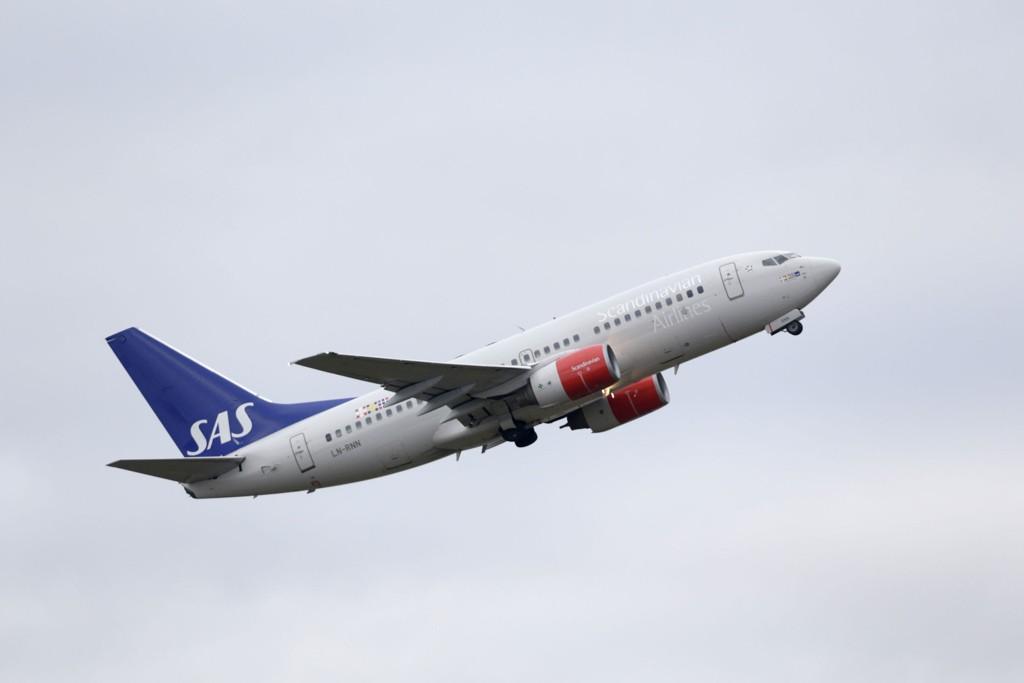 2,5 millioner passasjerer reiste med SAS i mars, en økning på 6,1 prosent fra samme måned i fjor.
