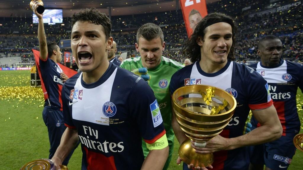 ØNSKET AV UNITED: Både Thiago Silva og Edinson Cavani skal være ønsket av Manchester United.