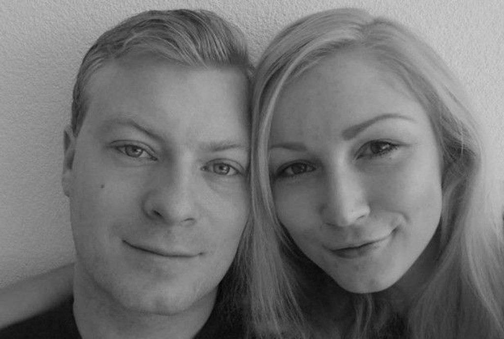 """SISTE BILDE: Anneli la ut dette bildet av seg selv og kjæresten Paul på Facebbok. """"Siste morgen med min kjære, min beste venn, min beskytter, min prins"""" skrev hun."""