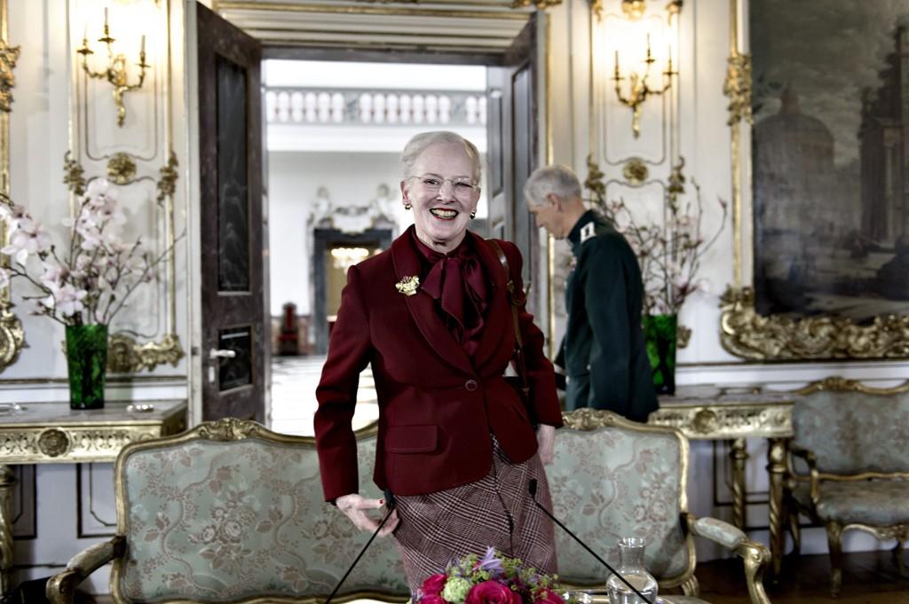 POPULÆR: Dronning Margrethe II holdt mandag en pressekonferanse på Fredensborgs slott i forbindelse med sin 75-årsdag 16. april.