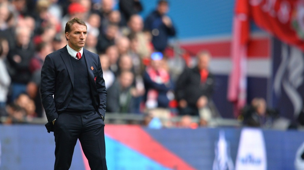 NULL TROFE: Brendan Rodgers var en slagen mann etter tapet mot Aston Villa.