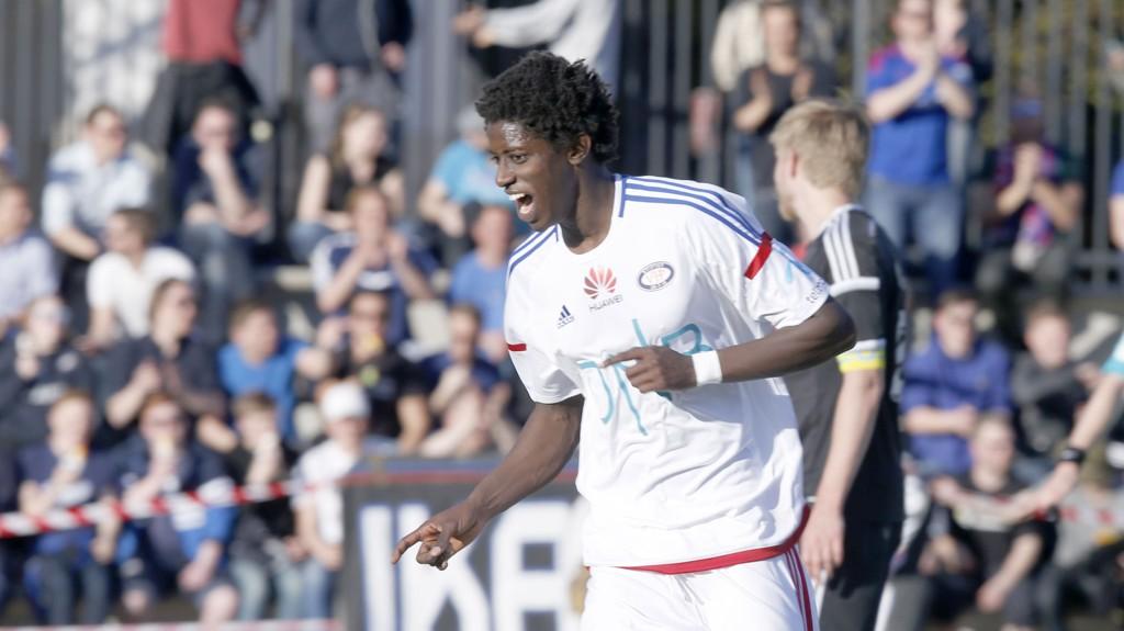 SCORET TRE: Mossa Nije scoret tre mål mot Lokomotiv Oslo.