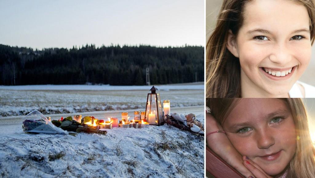 MISTET LIVET: Sara Christiane Holmedahl Sandsmark (13) og Tiril Alette Huser Bølge (11) døde etter å ha blitt påkjørt mens de kjørte hest og vogn 11. januar i fjor. Foto: Scanpix/Privat