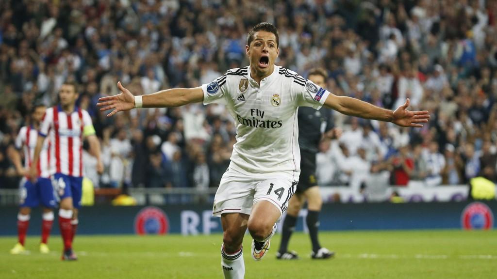VINNERMÅLET: Javier Hernandez satt seiersmålet for Real Madrid.