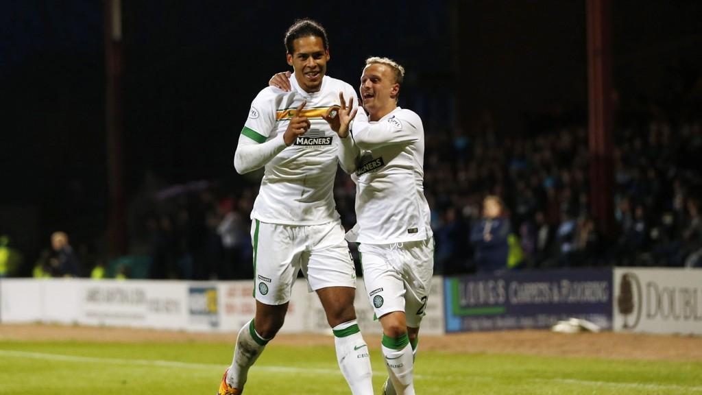 MÅLSCORER: Virgil van Dijk scoret for Ronny Deila og Celtic.