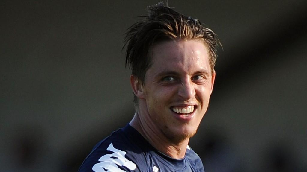 NEKTER: Den danske Evian-spilleren Nicki Bille Nielsen benekter at han bet en politimann.