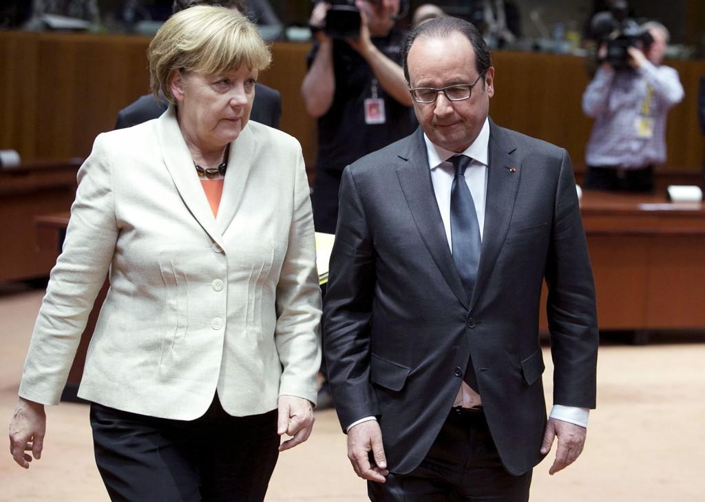 Her ankommer toppene fra Frankrike og Tyskland EU-toppmøtet.