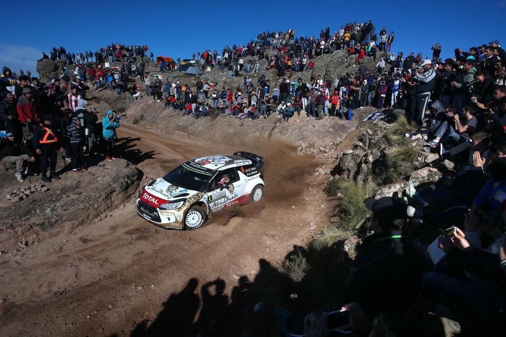 ANDREPLASS: Mads Østberg underveis på den siste dagen av Rally Argentina. Nordmannen endte til slutt på andreplass.