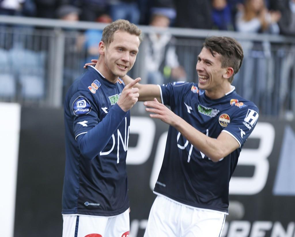 STORSPILTE: Øyvind Storflor og Gustav Wikheim var lekne mot Sandefjord.