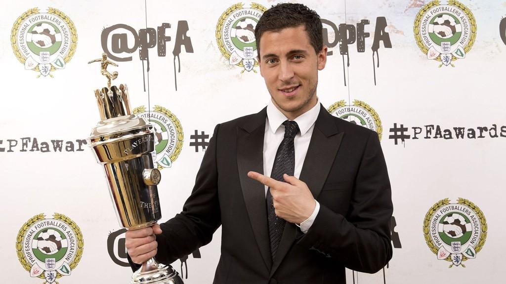 Eden Hazard ble søndag kåret til årets spiller i Premier League av spillerne.