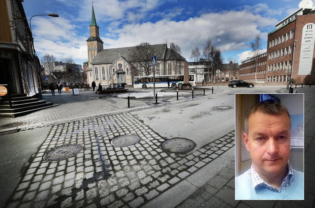 SJOKKERT: Robert så at en mann gikk i bakken i Tromsø sentrum, og at folk bare gikk rett forbi.