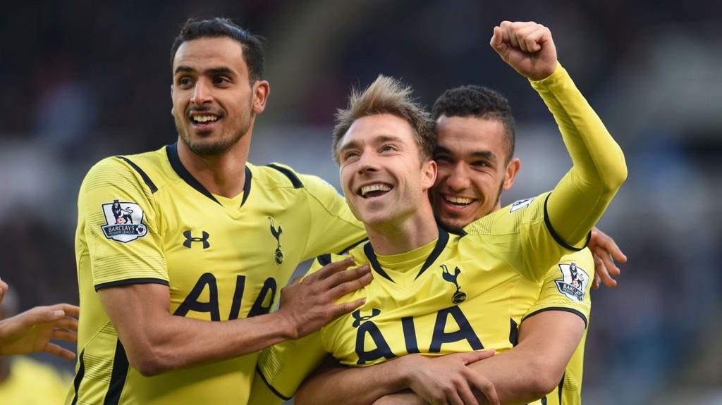 Tottenham møter Manchester City til toppkamp på White Hart Lane søndag.