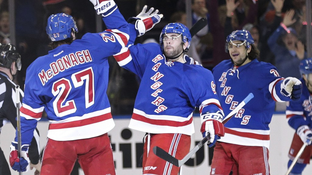 New York Rangers møter Washington Capitals i kvartfinalen i NHL-sluttspillet.