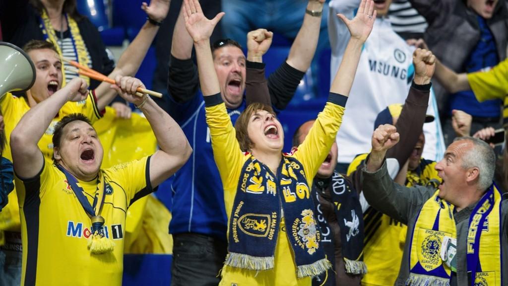 HURRA: Sochaux-fansen jubler i en kamp tidligere denne sesongen. Får de mer å feire i dag?