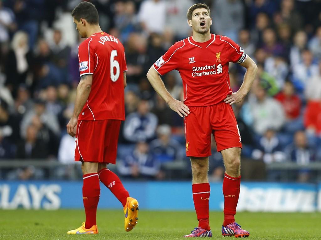 NEDTUR PÅ NEDTUR: Liverpool og kaptein Steven Gerrard har ikke alt på stell.