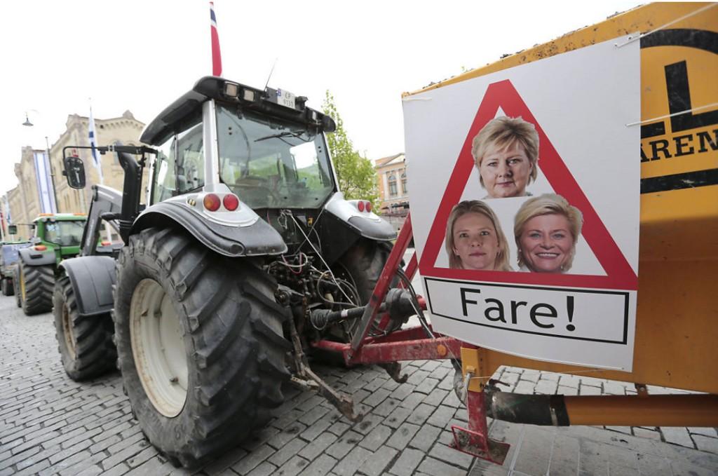 BONDEAKSJON: 2.500-3.000 bønder kom til Oslo, i sakte fart, 20. mai i fjor. Vil vi få se noe lignende i år?