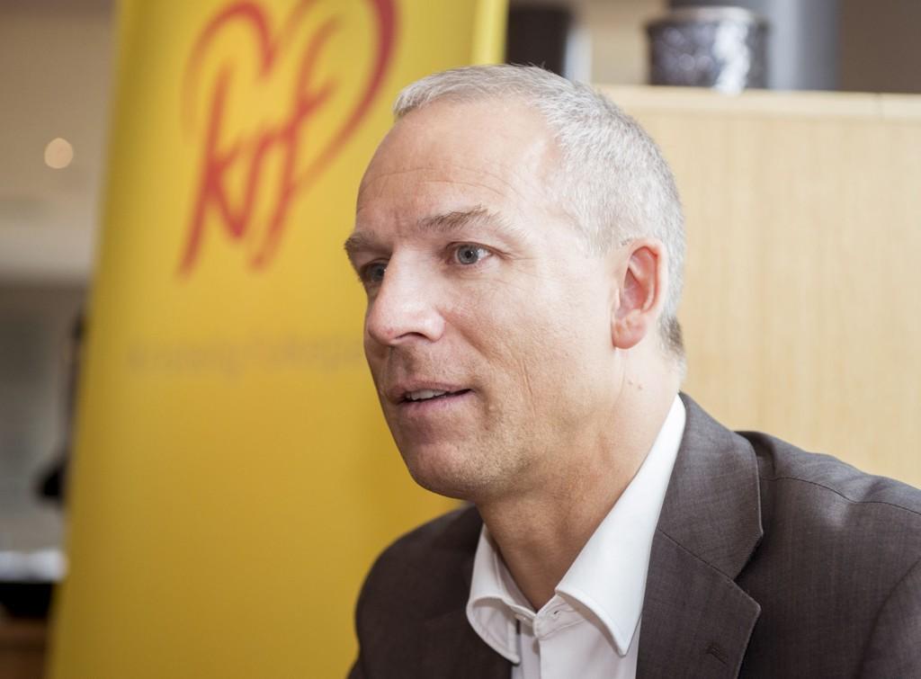 Stortingsrepresentant Hans Olav Syversen under KrFs landsmøte mai 2015.