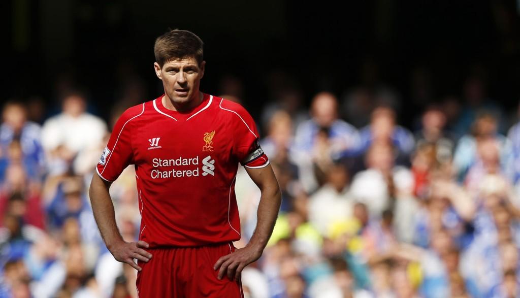 SNART BORTE: Steven Gerrard har bare to ligakamper igjen av sin lange Liverpool-karriere.