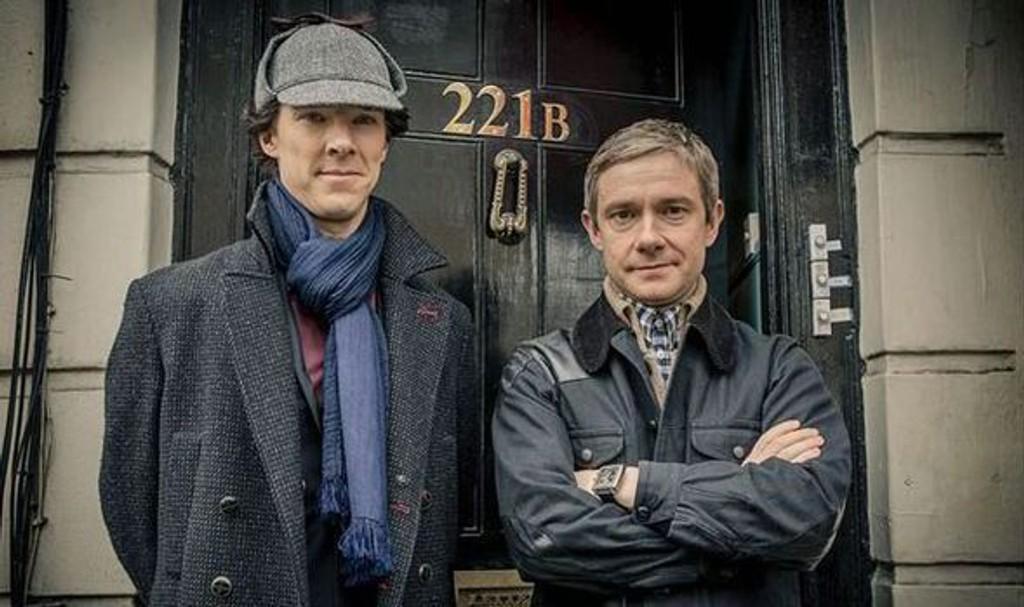 MODERNISERT: Mark Gattis og Stephen Moffats «Sherlock» har gjort storstjerner ut av Benedict Cumberbatch og Martin Freeman.