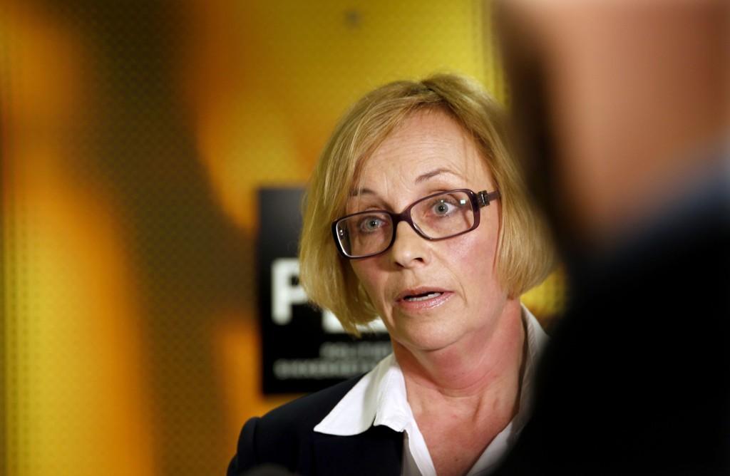Politiadvokat Signe Aalling møtte pressen i forbindelse med at en norsk mann i 40-årene er pågrepet og siktet etter straffelovens terrorparagraf. Foto: Vidar Ruud / NTB scanpix
