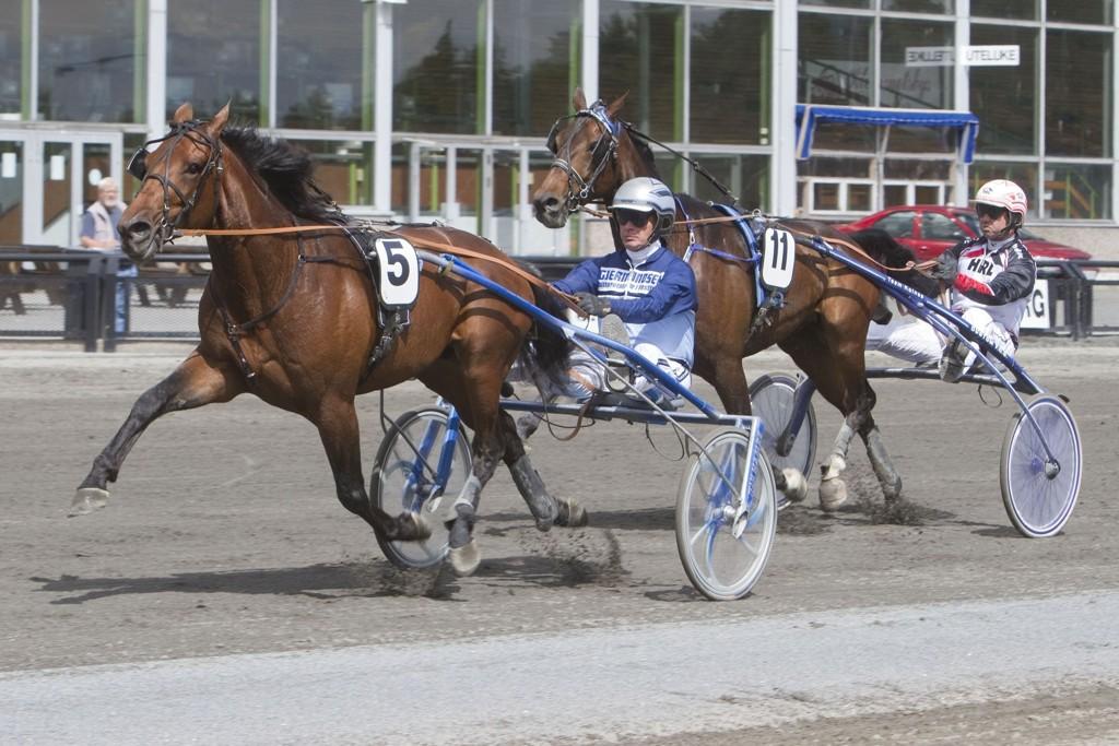 Megamuscle og kusk Frode Hamre dukker opp på Forus denne tirsdagen. Foto: Anders Kongsrud/www.hesteguiden.com.