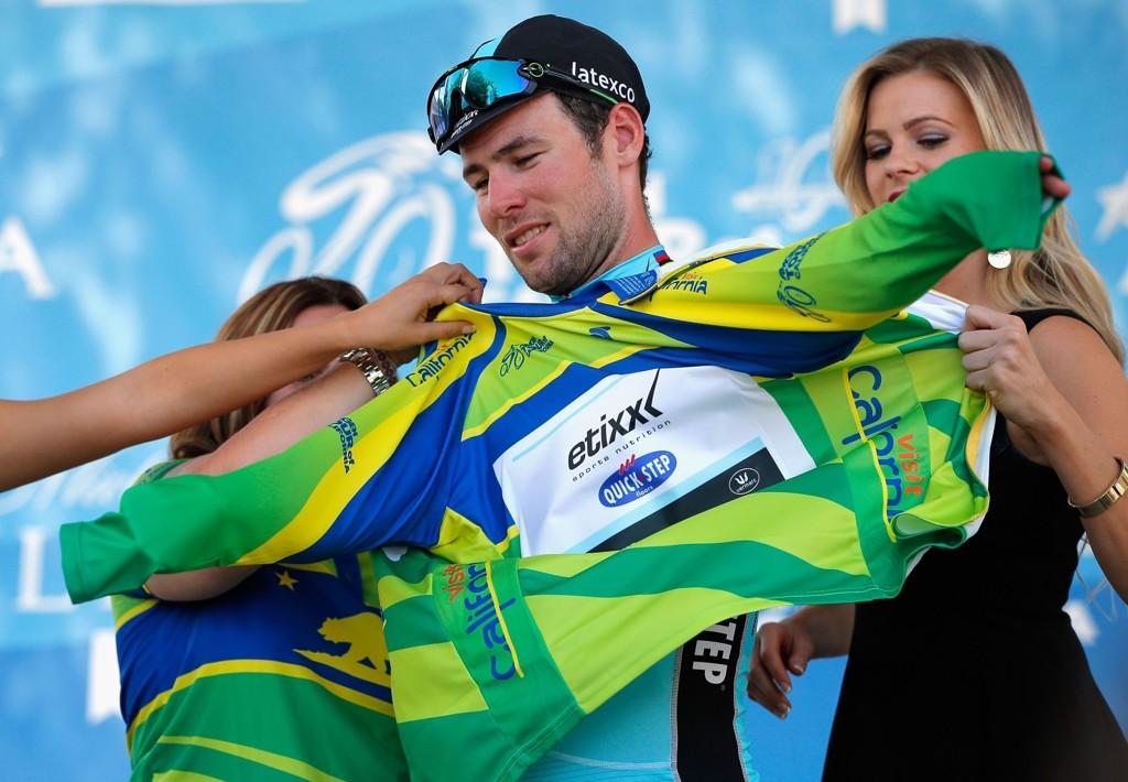 LEDERTRØYA ble værende hos Mark Cavendish etter andre etappe av California rundt.