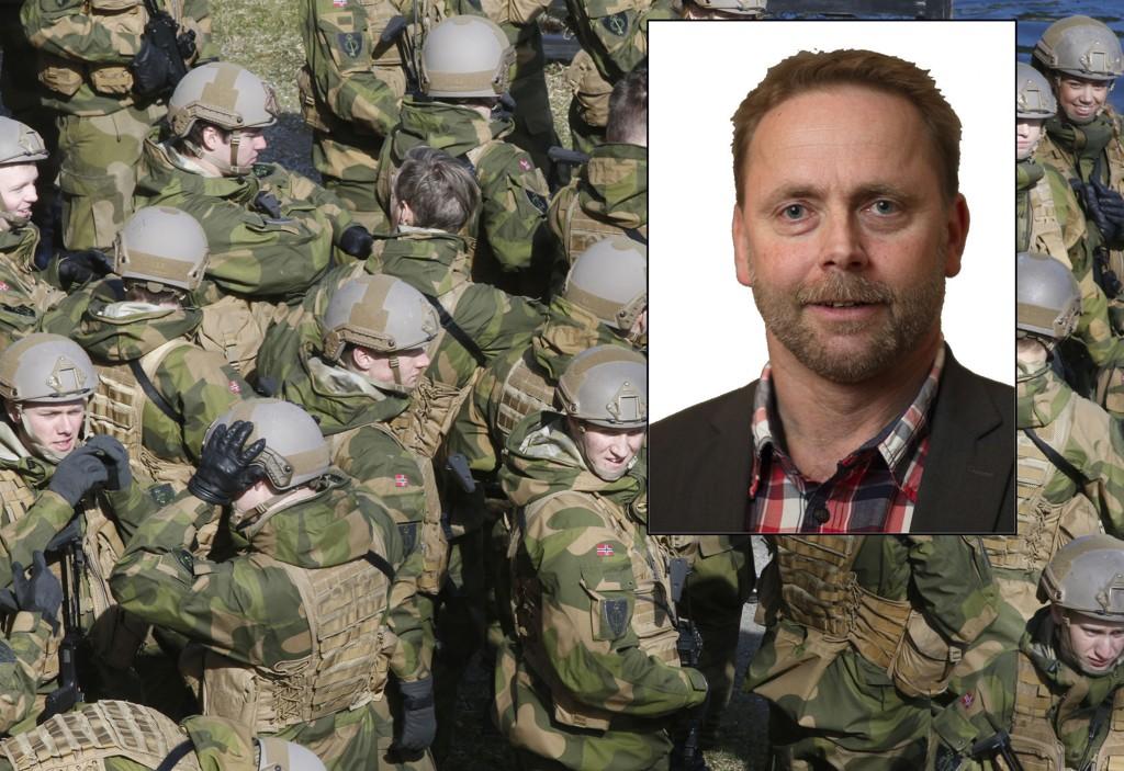 Rune Rudberg i Befalets Fellesorganisasjon reagerer sterkt på summen som bevilges til Forsvaret i regjeringens forslag til revidert nasjonalbudsjett, og kaller det en ansvarsfraskrivelse. Foto: Terje Pedersen / NTB scanpix