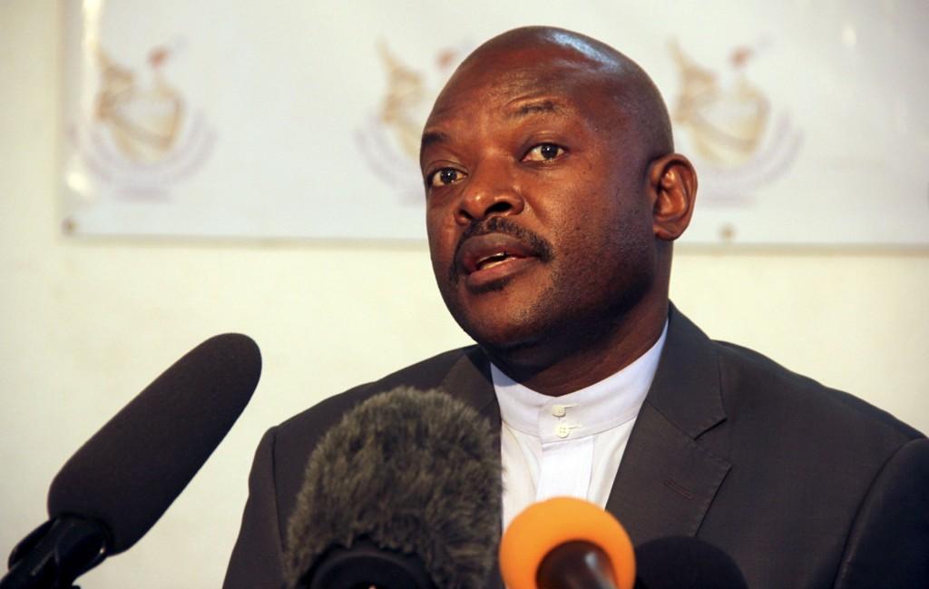 Burundis president Pierre Nkurunziz, som skal ha blitt avsatt.