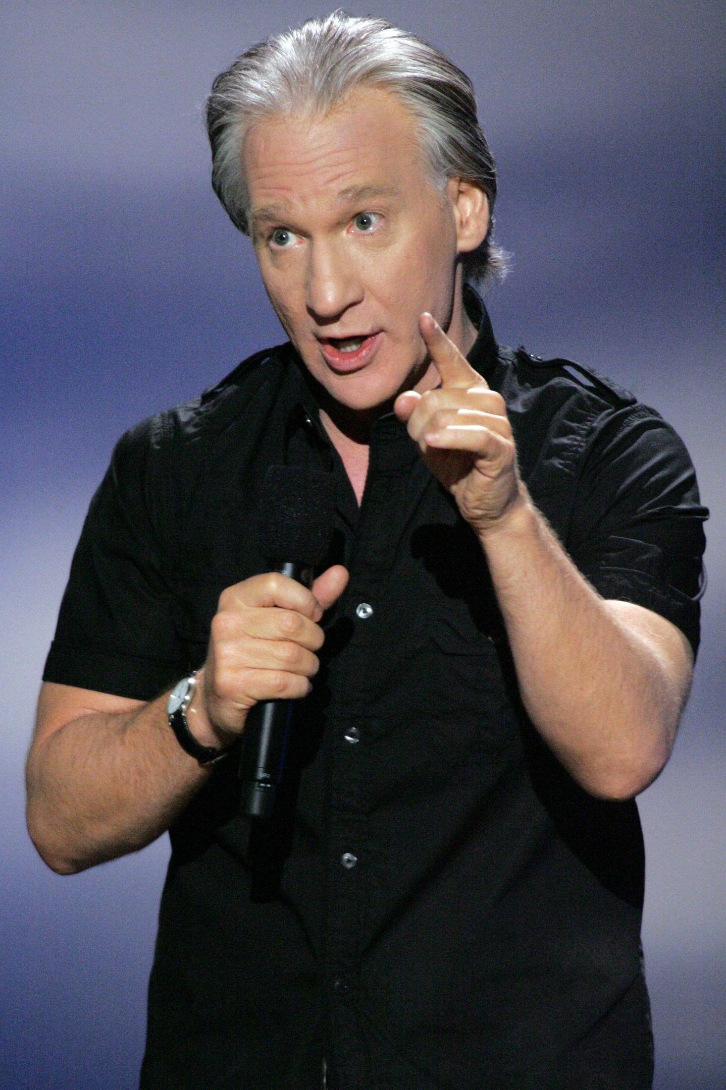 KOMMER TIL OSLO: Den amerikanske komikeren og satirikeren Bill Maher kommer til Oslo 27. mai. Her fra stand up-scenen i USA.