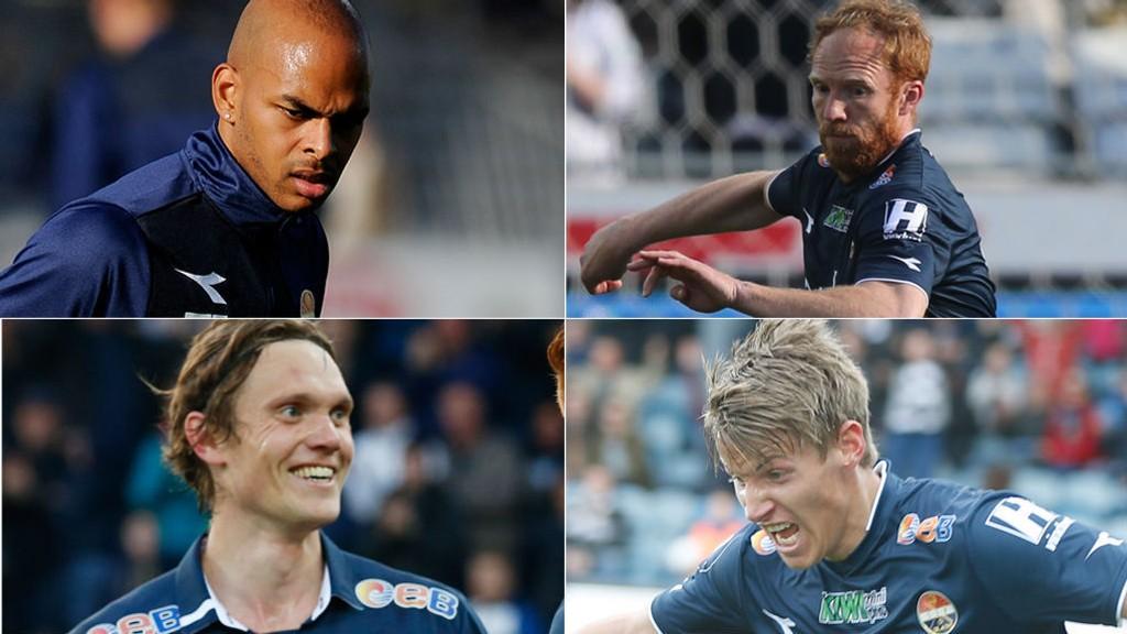 FIRA MANN - ÉN PLASS: Marvin Ogunjimi, Peter Kovács, Thomas Sørum og Thomas Lehne Olsen kjemper alle om samme spissplass.