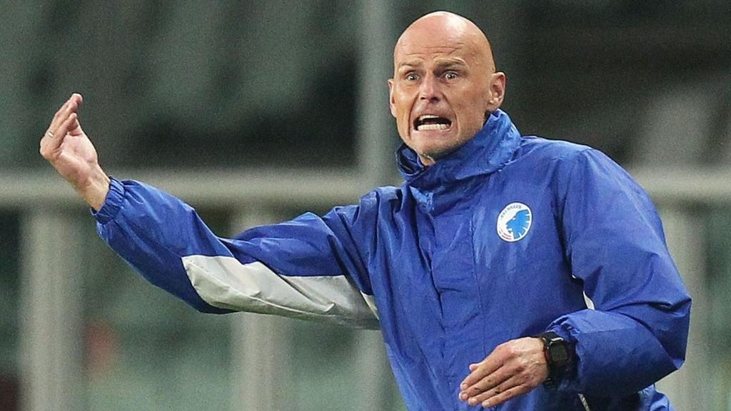 Ståle Solbakken kunne torsdag kveld løfte sitt første trofee siden han returnerte til FC København.