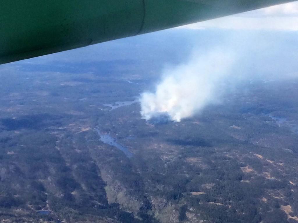 FIKK KONTROLL: Flammene spredde seg til et område på om lag 1.000 dekar før brannvesenet ved 21-tiden fikk kontroll.