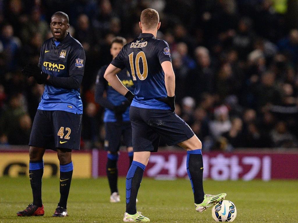 TIL RIVAL I LONDON? Både Yaya Touré og Edin Dzeko har hatt en mindre vellykket sesong. Nå kobles begge til en av Manchester Citys verste konkurrenter.
