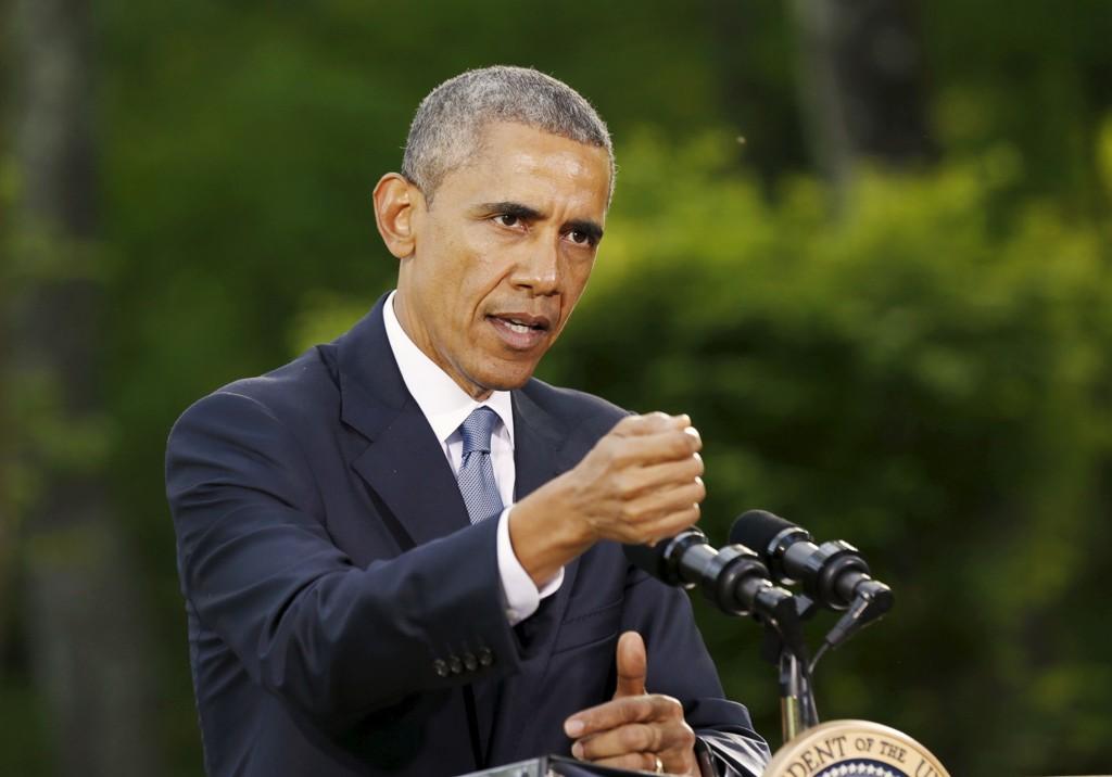 USAs president Barack Obama ga selv ordren om aksjonen i Syria natt til lørdag. Foto: Kevin Lamarque / Reuters / NTB scanpix