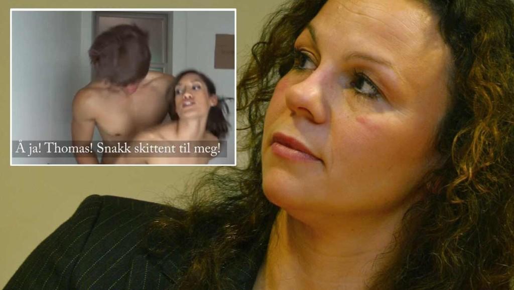 IKKE FORNØYD: Kari Jaquesson ser absolutt ikke humoren i innslaget på Trygdekontoret som forestilte sex mellom henne og Thomas Seltzer.