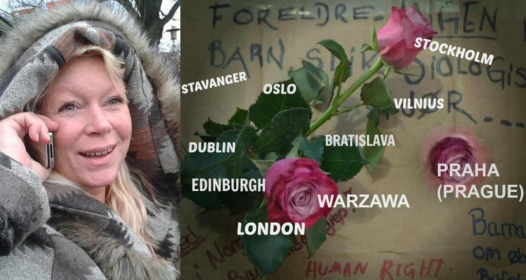 INITIATIVTAKER: I over et år har May Lund Nikolaisen planlagt den internasjonale demonstrasjonen. I flere land vil det neste helg bli arrangert rosedemonstrasjoner mot det norske barnevernet.