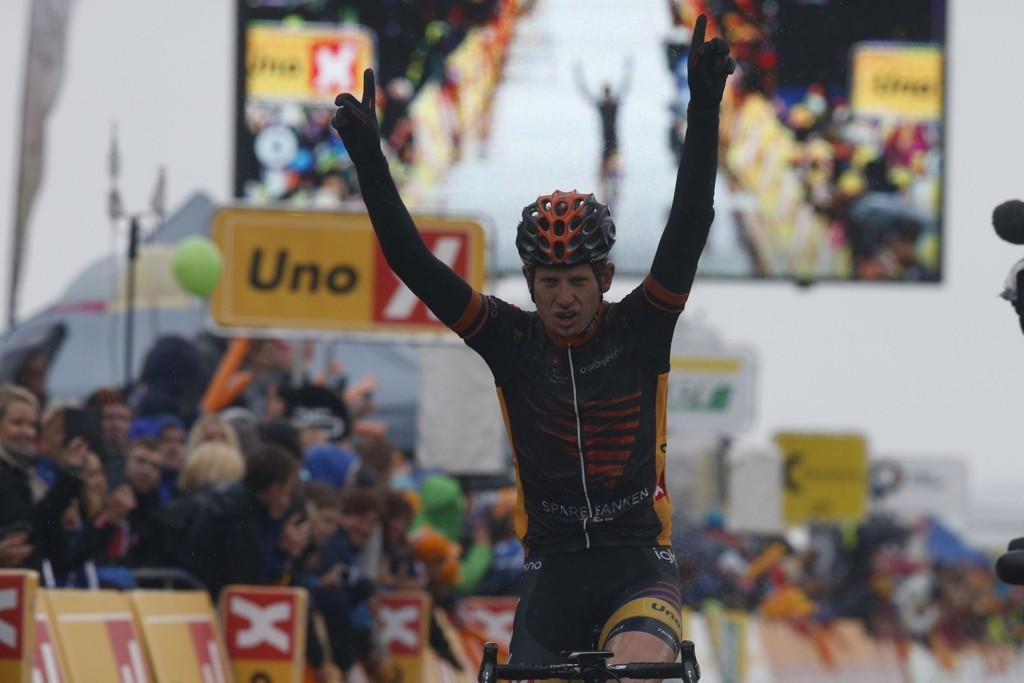 OVERRASKET: Andreas Vangstad tok en sensasjonell seier på den avsluttende etappen av Tour of Norway.