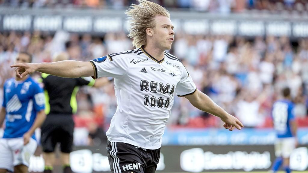 Alexander Søderlund og Rosenborg møter Stabæk til toppkamp på Nadderud mandag kveld. Kampen vises på CMore fotball. Foto: Ned Alley / NTB scanpix