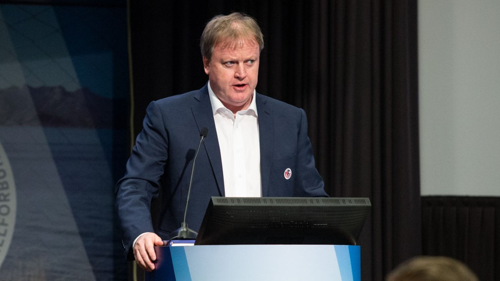 STØTTER IKKE BLATTER: Yngve Hallen skriver i en pressemelding at NFF kommer til å støtte Prins Ali av Jordan.