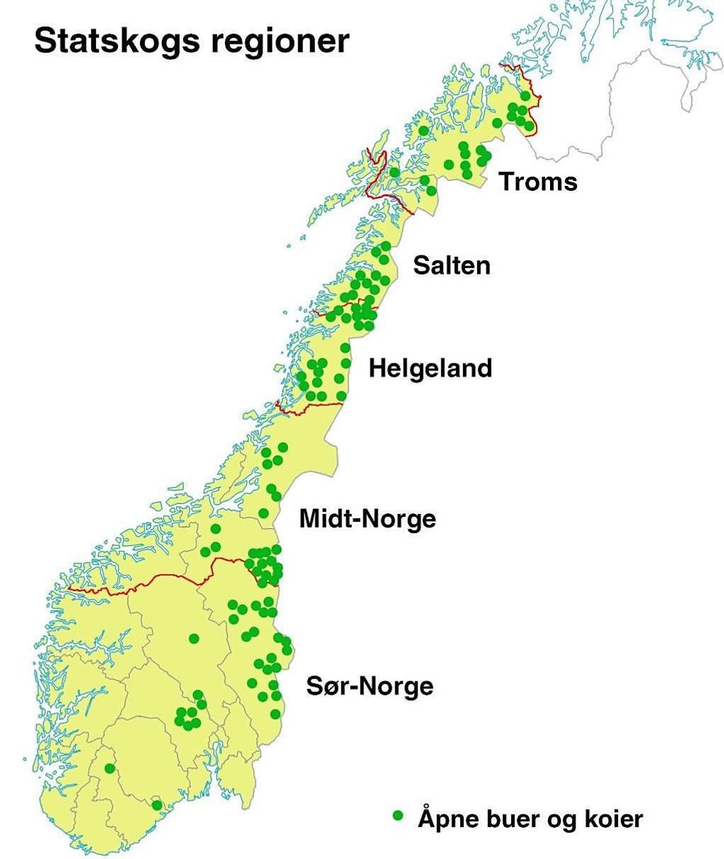 statskog kart Tilbyr over 100 gratis hytter statskog kart