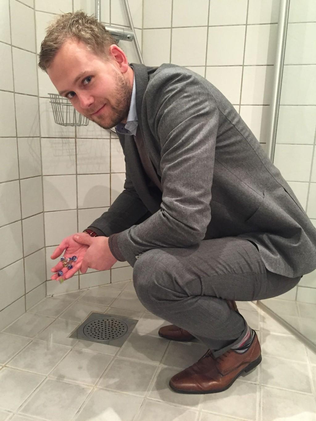 Støpe badegulv sponplate