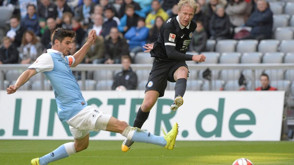 1860 München, her i en kamp mot Håvard Nielsens Braunschweig, risikerer å risikerer å rykke ned til 3. nivå i Tyskland.