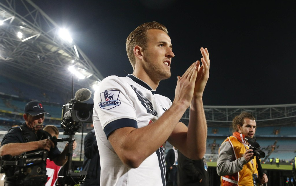 KOBLES TIL UNITED: Tottenhams åpenbaring denne sesongen, Harry Kane, kan være på vei til Manchester United.