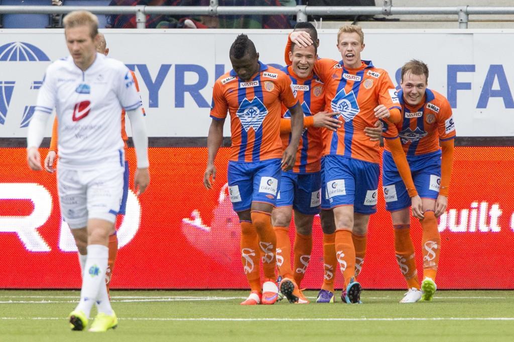 VIKTIGE POENG: Aalesund tok et langt steg ut av nedrykksstriden med 2-1-seier over Haugesund i eliteserien søndag.