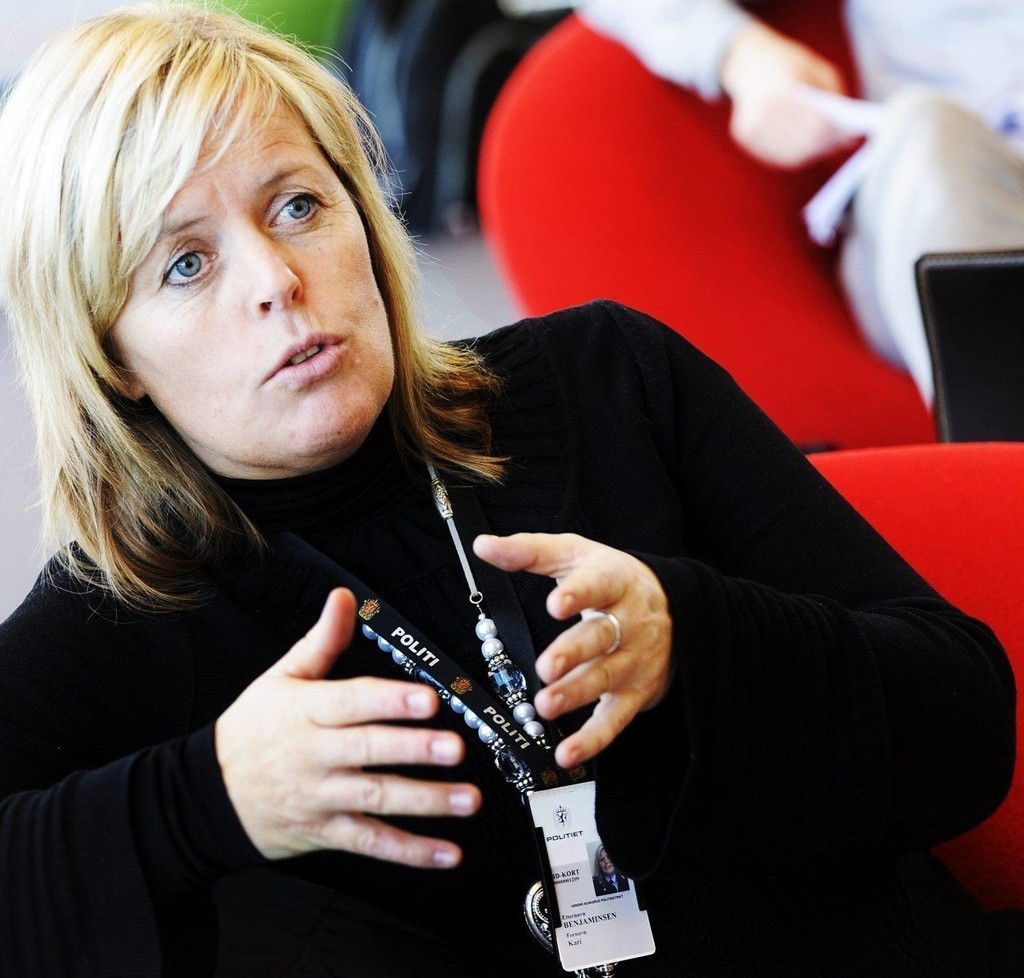 STABILT: Kari Benjaminsen, leder for forebyggende ved Drammen politistasjon mener barnekriminaliteten er stabil. – Det går i bølgedaler, men jeg tror ikke det er mer nå enn før, sier Benjaminsen.