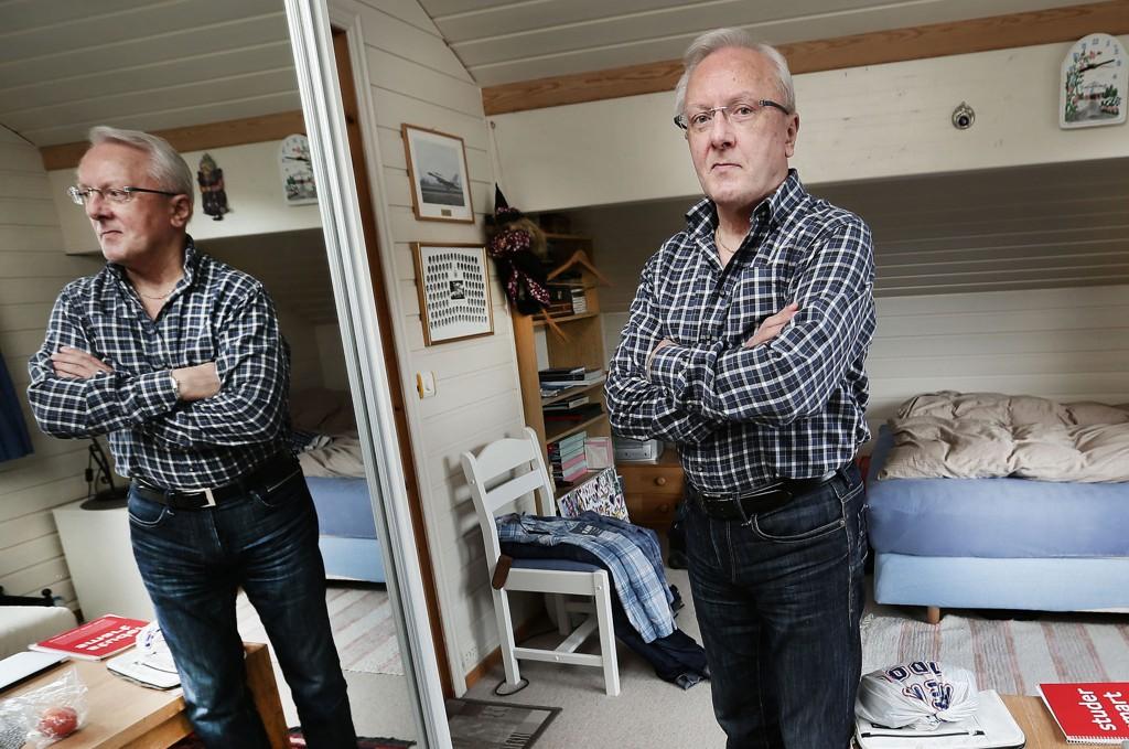 LEIER UT: Johan F.Lindrupsen og kona leier ut rom i boligen sin i Hansmarka. Foto: Torgrim Rath Olsen (Nordlys)