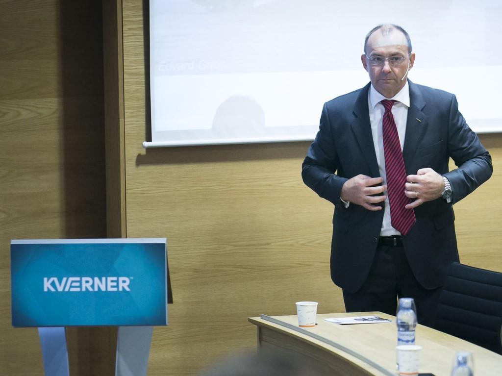 Kværner-sjef Jan Arve Haugen er lettet etter å ha avsluttet forhandlingene med Statoil. Dette bildet er tatt ved en tidligere anledning.