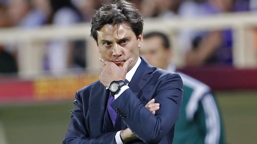 Vincenzo Montella må se seg etter en ny trenerjobb. Mandag fikk han sparken av Fiorentina.